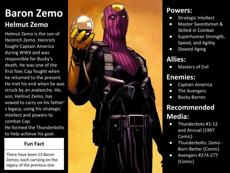 Baron Zemo Character Spotlight