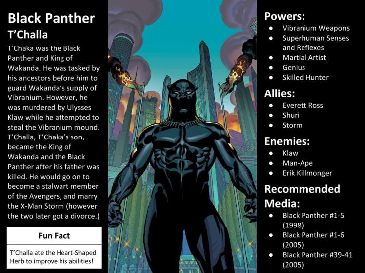 Black Panther Character Spotlight