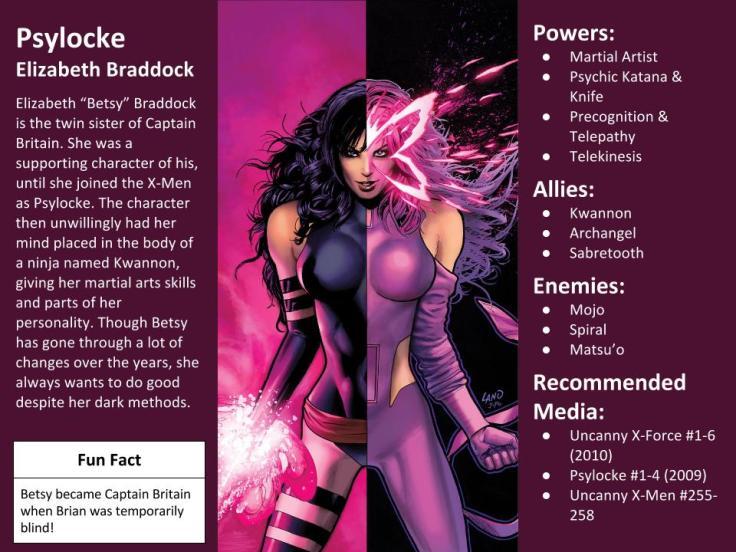 Psylocke Character Spotlight
